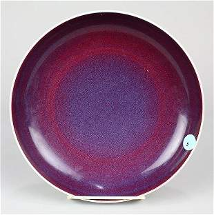 Chinese Flambe Porcelain Plate