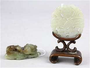 Two Chinese Jade/Hardstone Carvings