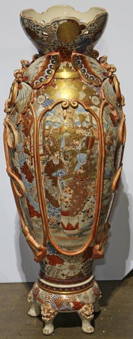 Japanese Large Satsuma Vase