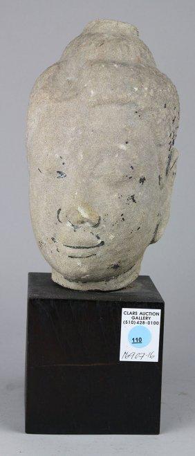 Thai Stone Buddha Head