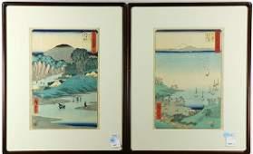 Japanese Woodblock Prints Hiroshige 19c