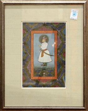 Indian Painting Of Raja