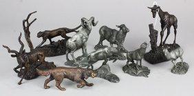 (lot Of 9) Franklin Mint Figurines, Circa 1945,