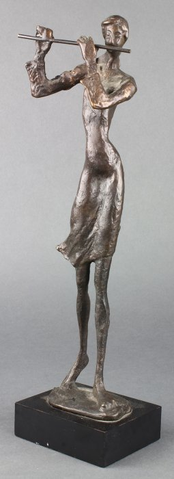 Patinated Bronze Figural Sculpture, Depicting A