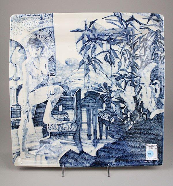 Susan Sloan-Lewis studio pottery porcelain platter,