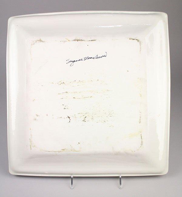 Susan Sloan-Lewis studio pottery porcelain platter, - 2