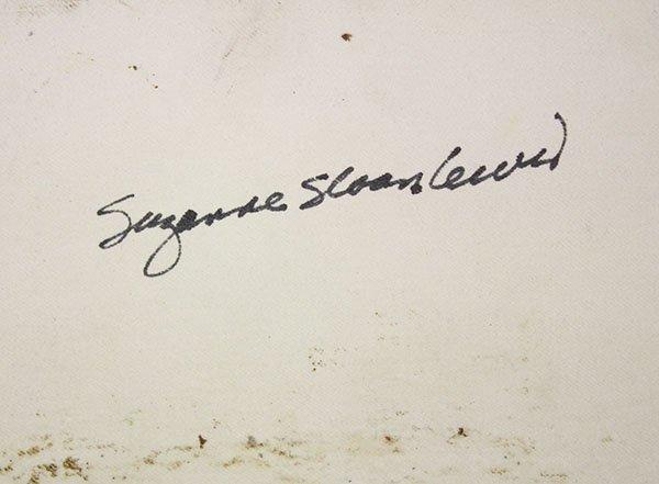 Susan Sloan-Lewis studio pottery porcelain platter, - 3