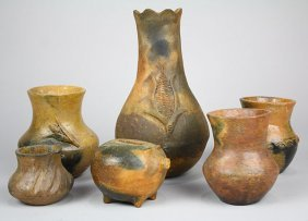 (lot Of 12) American Navajo Pottery