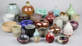 (lot Of 25) American Studio Pottery Diminutive Table
