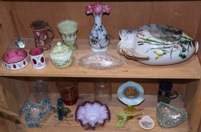 (lot Of Approximately 20) Art Glass Group, Including A