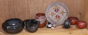 (lot Of 10) Native American Pottery Items, Including