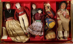 (lot Of 8) Group Of Native American Dolls Including (3)