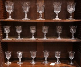 (lot Of 17) Clear Glass Stemware Group, Consisting Of