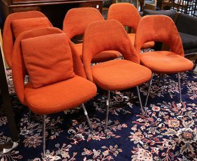 (lot Of 6) Eero Saarinen For Knoll #7 Side Chairs, With