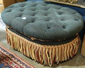 Moderne Twill Upholstered Pouf