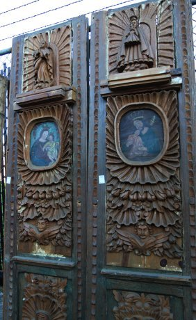 (lot Of 2) Spanish Colonial Style Carved Wooden Doors