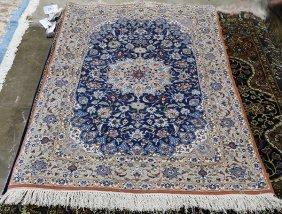 "Persian Isphahan Carpet, 3'3'' X 5'3"""