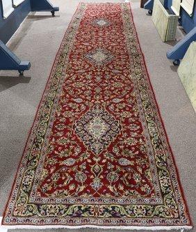Semi Antique Persian Kashan Runner