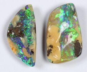 (lot Of 2) Unmounted Boulder Opals