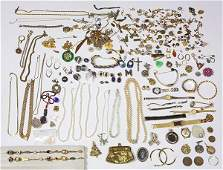 Collection of multistone sterling silver goldfilled