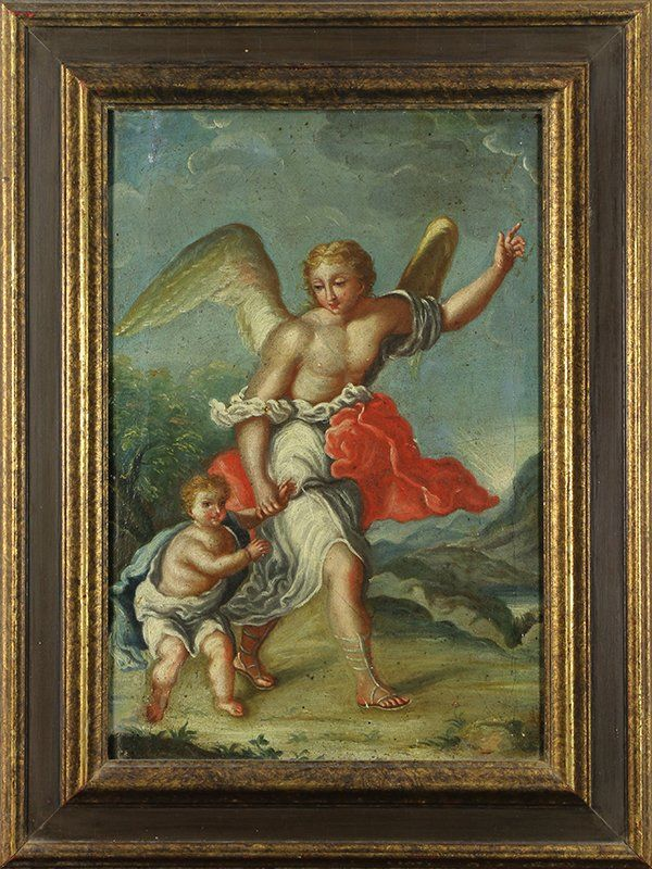 Painting, Saint Raphael and the Archangel