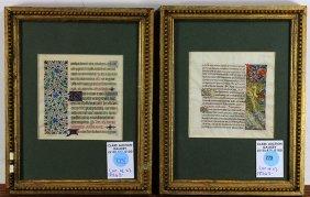 Drawings, Illuminated Manuscript Sheets