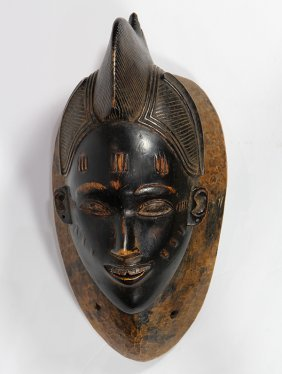 Guro, Cote D'ivoire, Mask With A Smiling Countenance,