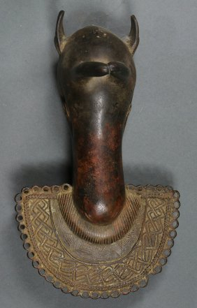 Benin Or Benin-style, Nigeria Zoomorphic Pendant Having