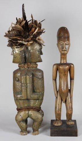 (lot Of 2) Koulango/akan, Ivory Coast/ghana/lagoon