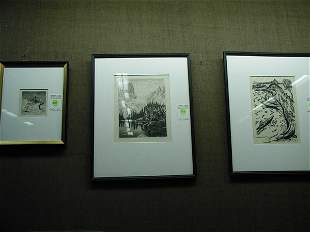 Etchings, American 19th-20th century