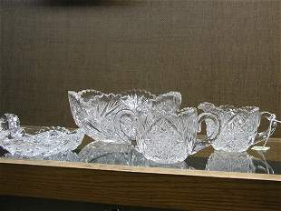 Four crystal table articles