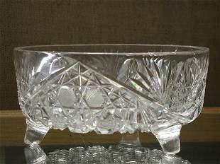 Cut glass centerbowl