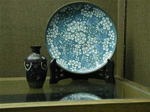 Cloisonne plate and vase