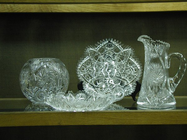 2013: Four cut crystal table articles