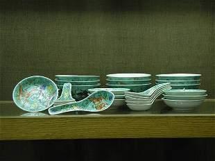 Qianlong style dinnerware