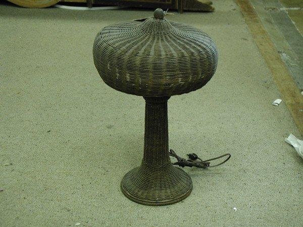 2016: Woven wicker lamp circa 1910