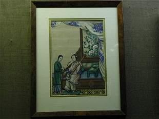 China Trade watercolor/pith, 19th century