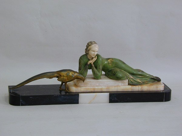 2090: Art deco metal sculpture, Menneville
