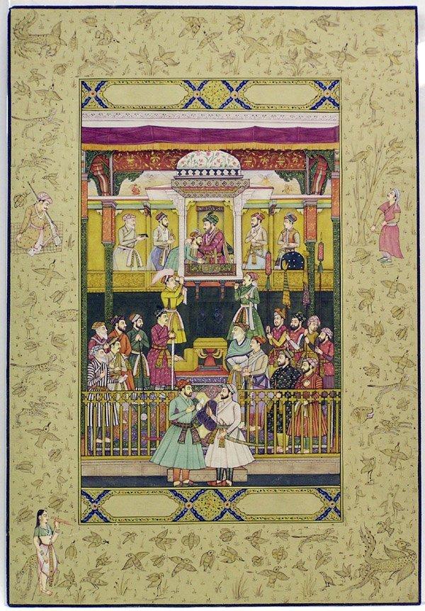 6013: Indian miniature gouache, emperor