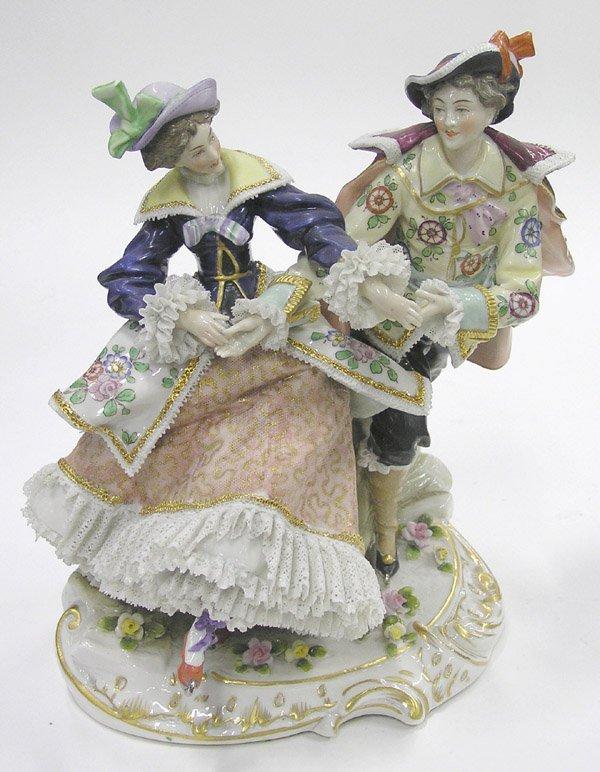 6022: Continental porcelain figural
