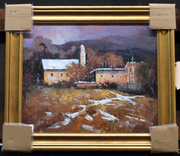 4001: Oil on canvas, Impressionist Landscape
