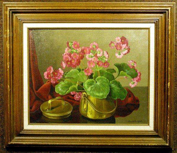 4002: Oil, Geraniums, Joan B.N. Van Gent