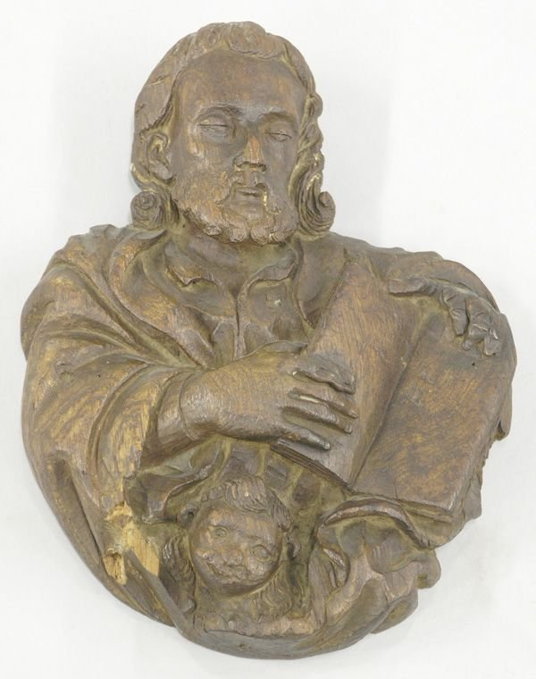 4006B: Early 19th c. carving of a Santos