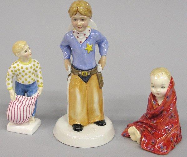 4012: 3 Royal Doulton figures