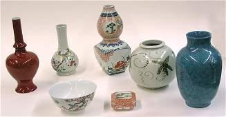 Assorted Asian ceramics