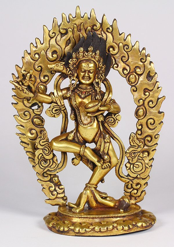 Himalayan Gilt Bronze Sculpture of Dakini