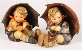 (Lot of 2) Goebel Hummel figures of a boy and girl