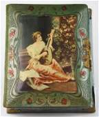 Victorian photo album fronted by a picture of a young