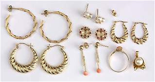 Collection of multistone and gold jewelry