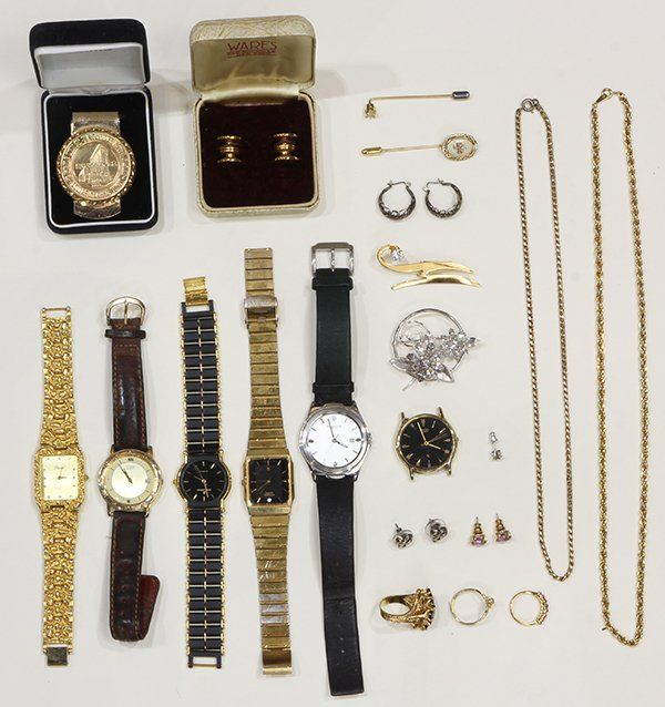 Collection of watches and costume jewelry